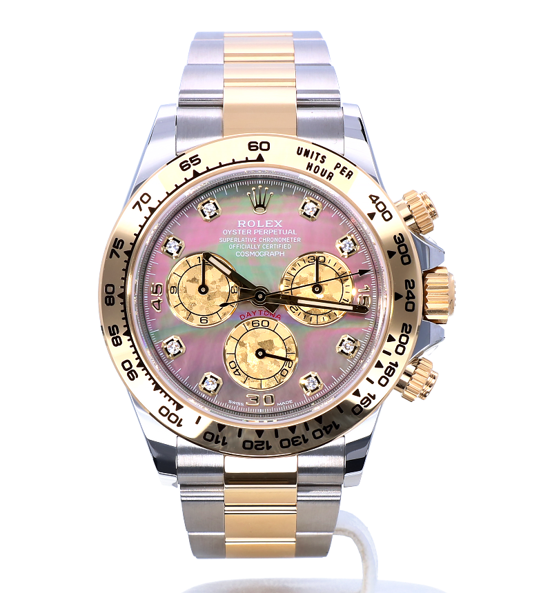 rolex daytona black diamond dial mens chronograph